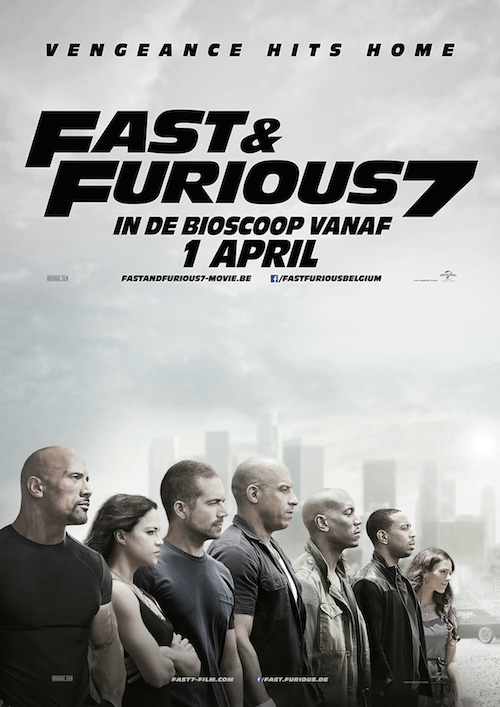 fast and furious 7 2015 poster